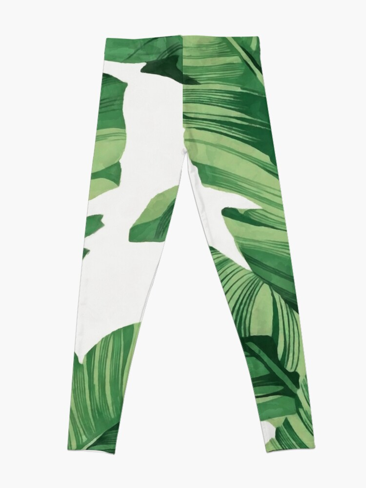 Alternate view of Tropical banana leaves Leggings