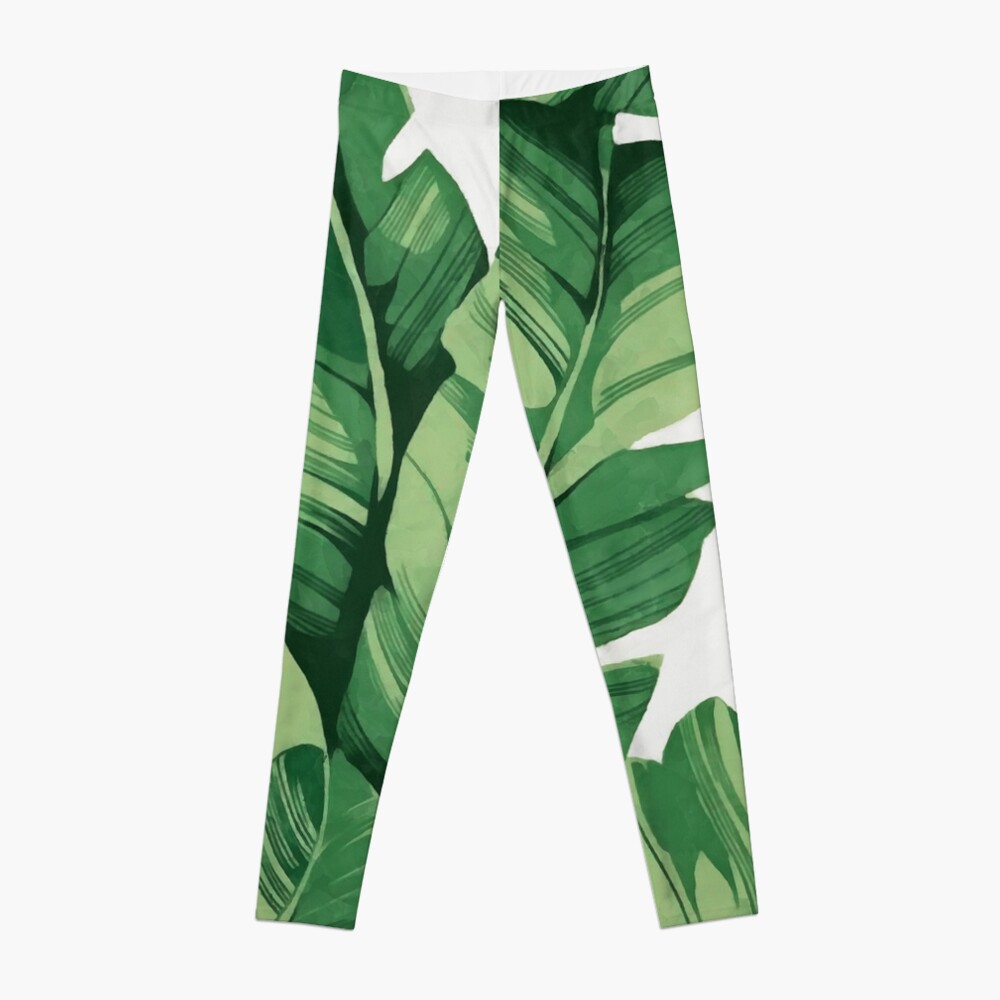 Tropical banana leaves Leggings