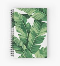 Tropical banana leaves Spiralblock