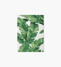 Tropical banana leaves Art Board