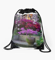 Purple Explosion Drawstring Bag