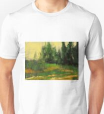 Yellow grass and some trees T-Shirt