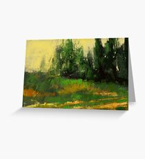 Yellow grass and some trees Greeting Card