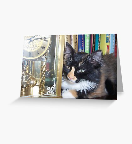 Lucy Watching Clock Greeting Card