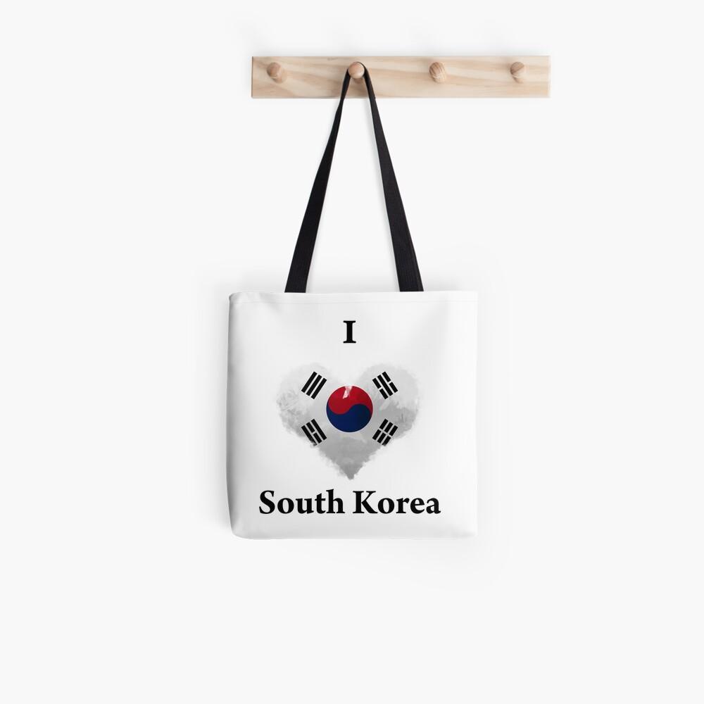 I Love South Korea Digital Art Tote Bag