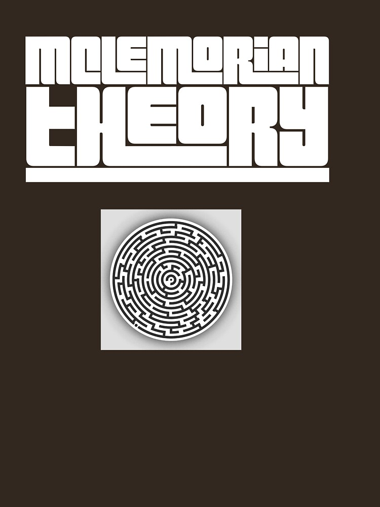 Mclemorian Theory- Maze White  by tees4gees