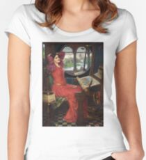I am half-sick of shadows, said the Lady of Shalott - John William Waterhouse Women's Fitted Scoop T-Shirt