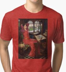 I am half-sick of shadows, said the Lady of Shalott - John William Waterhouse Tri-blend T-Shirt