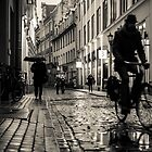 Rainy Night in Riga by OldBirch