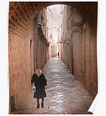 Streets of Old Dubrovnik Poster