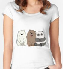 We Bare Bears IV Women's Fitted Scoop T-Shirt