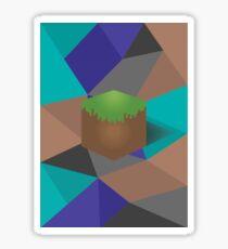 minecraft polygon Sticker