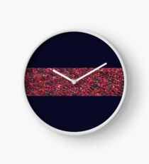 Knit bright pattern Clock