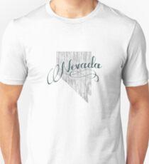 Nevada State Typography Unisex T-Shirt