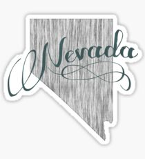 Nevada State Typography Sticker