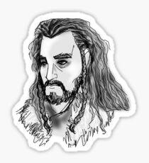 Thorin Oakenshield Sketch Design Sticker