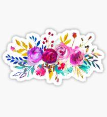 Romantischer Rosen-Blumen-Blumenstrauß # 2 Sticker