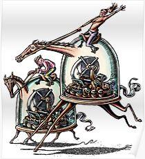 Stock Ticker Horse Race Poster