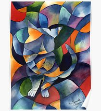Cat Kaleidoscope Abstract Poster