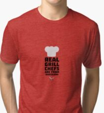 Real Grill Chefs are from Barcelona R9ar0 Tri-blend T-Shirt