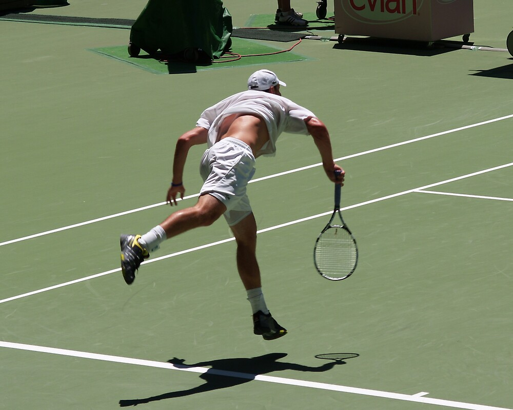 Tennis Serve by Alwyn Hanson