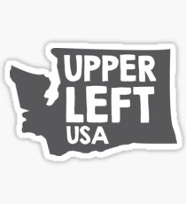 Washington State: Upper Left, USA Sticker