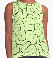 Zombie Brains in Lime Contrast Tank
