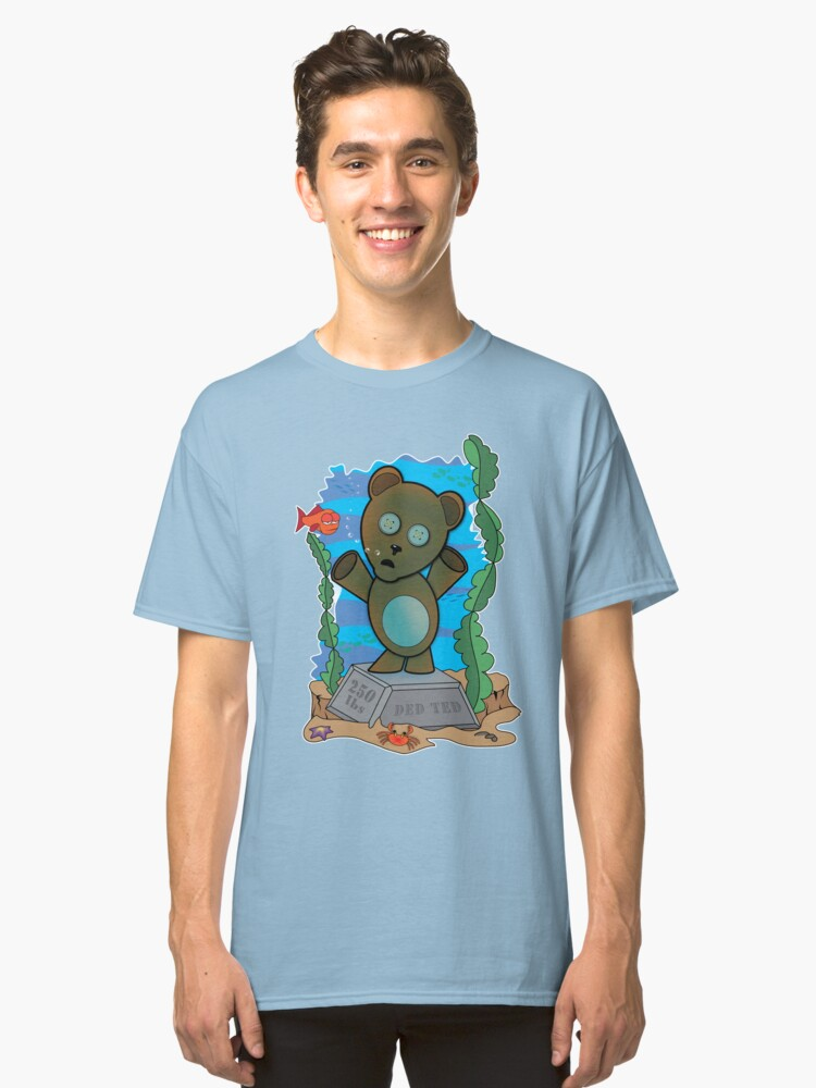 Ded Ted with the Fishes Classic T-Shirt Front
