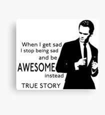 himym Barney Stinson Suit Up Awesome Canvas Print