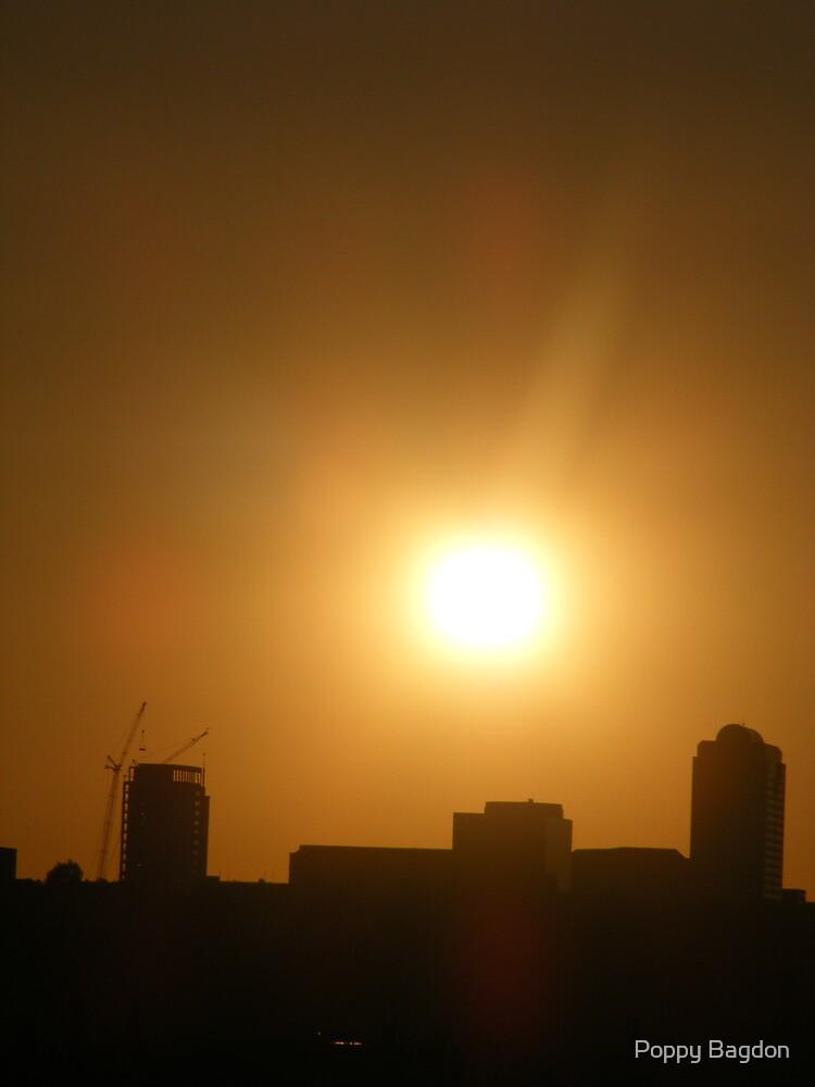 Sunrise over Buildings by Poppy Bagdon