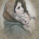 Die Madonna, Geburt Christi Mutter und Kind. von Irisangel