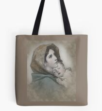 The Madonna, Nativity mother and child. Tote Bag