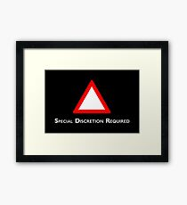 Channel 4 Red Triangle Framed Print