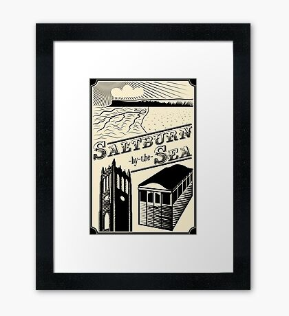 NDVH Saltburn-by-the-Sea stamp Framed Print