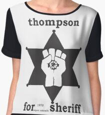 HUNTER S THOMPSON FOR SHERIFF aspen 1970 bukowski gonzo fear loathing Chiffon Top