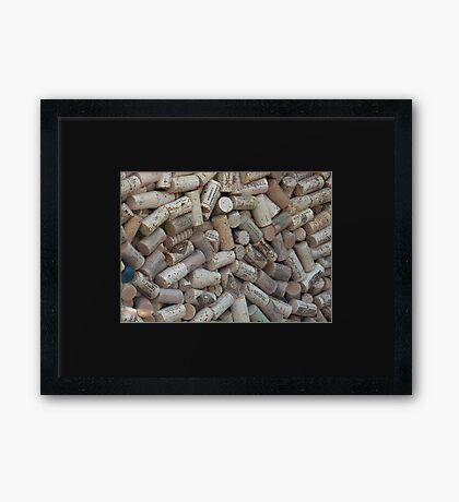 The Wine Lovers Cork Board Framed Print