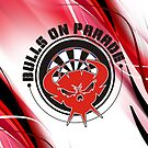 Bulls On Parade Darts Team by mydartshirts