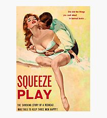 Pulp Sex Cover - Reprint of Vintage Pulp Sexy book  - Photographic Print