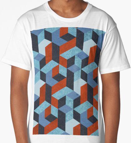 Funky Geometric Texured Long T-Shirt