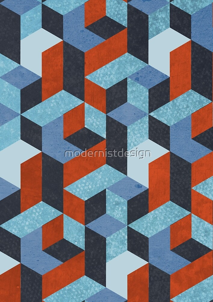Funky Geometric Texured by modernistdesign