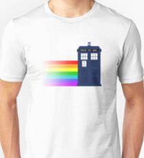 Doctor Who TARDIS Rainbow Unisex T-Shirt