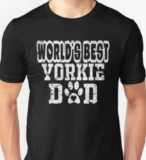 World's Best Yorkie Dad Dog Lover Distressed Unisex T-Shirt