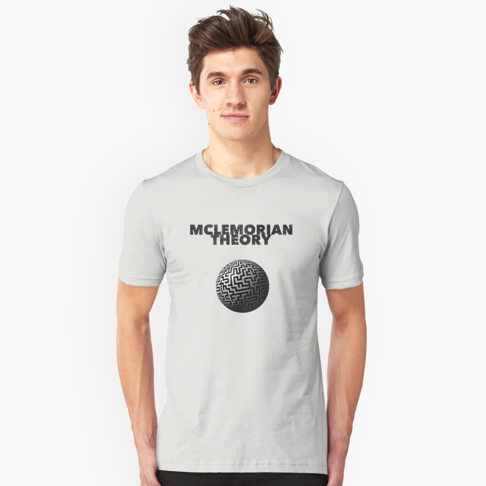 Mclemorian Theory - Faded World Maze Unisex T-Shirt Front