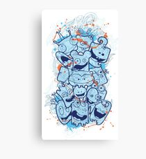 Silly Silly Fun Fun Characters Canvas Print