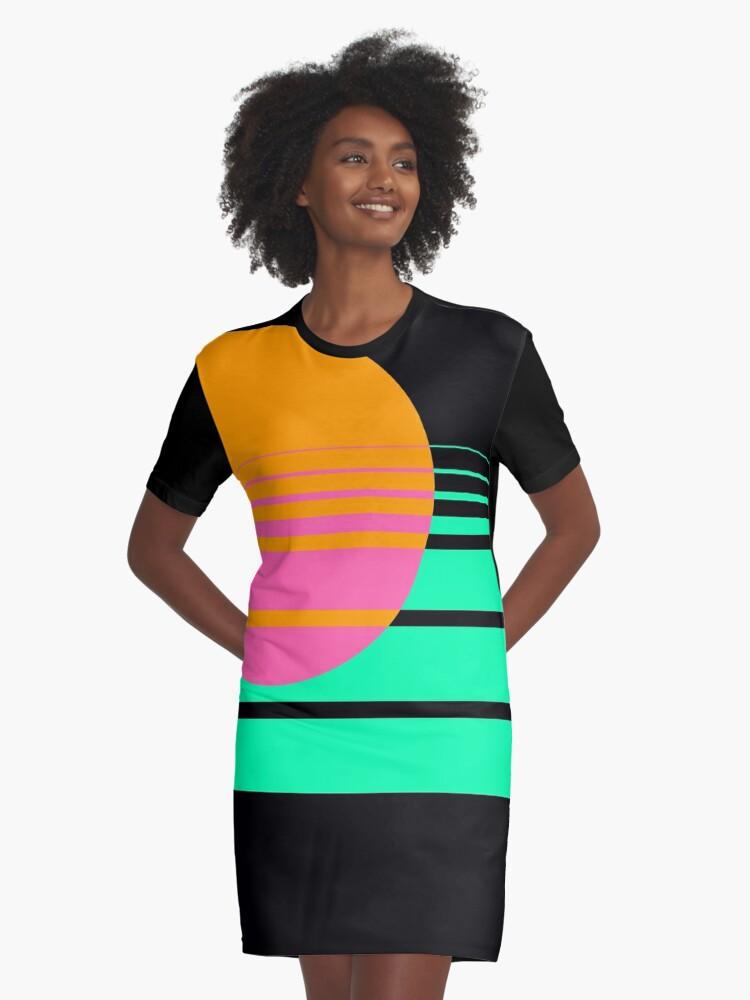 The Horizon Graphic T-Shirt Dress Front