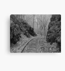 Desolate Tracks Canvas Print