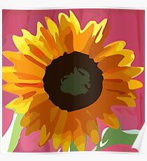Kids Painitng SunFlower Poster