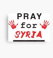 Pray for Syria Canvas Print