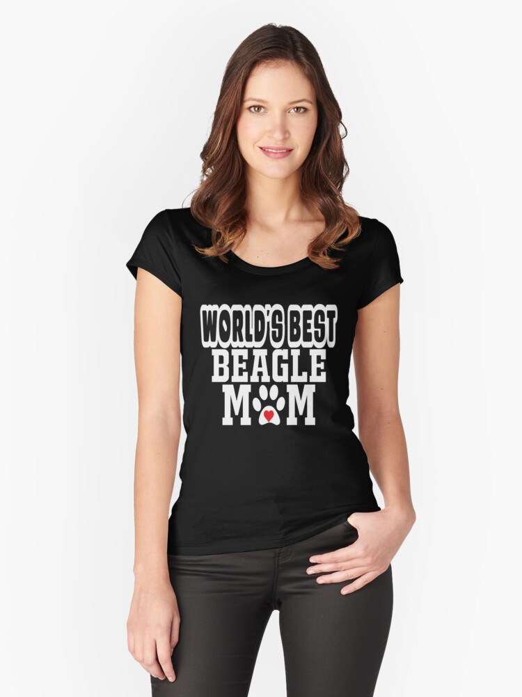 World's Best Beagle Mom Dog Lover Women's Fitted Scoop T-Shirt Front