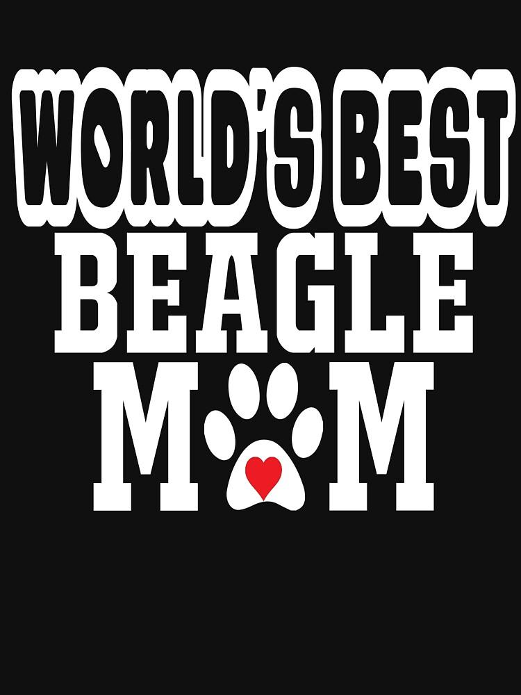 World's Best Beagle Mom Dog Lover by matt76c